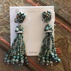 Kendra Scott ClipOn Cecily African Turquoise